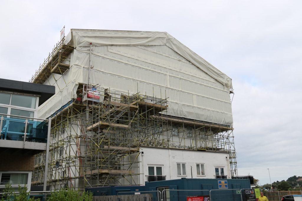 Hoist Hire on a Scaffolding Project - Triton Scaffolding Ltd
