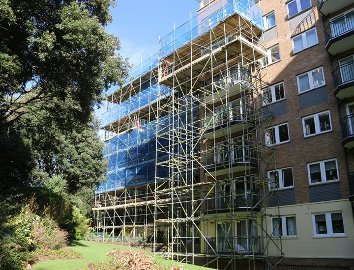 Scaffolding for a Block of Flats - Triton Scaffolding Ltd
