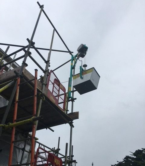 Elephant Hoist Hire at Top - Triton Scaffolding Ltd