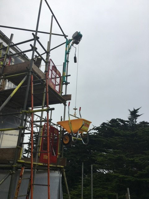 Elephant Hoist Hire with Wheelbarrow - Triton Scaffolding Ltd