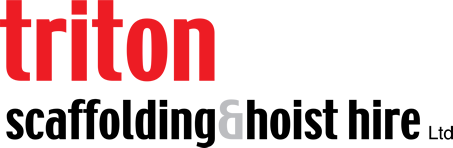 Triton Scaffolding and Hoist Hire Ltd Logo - Red and Black in Footer