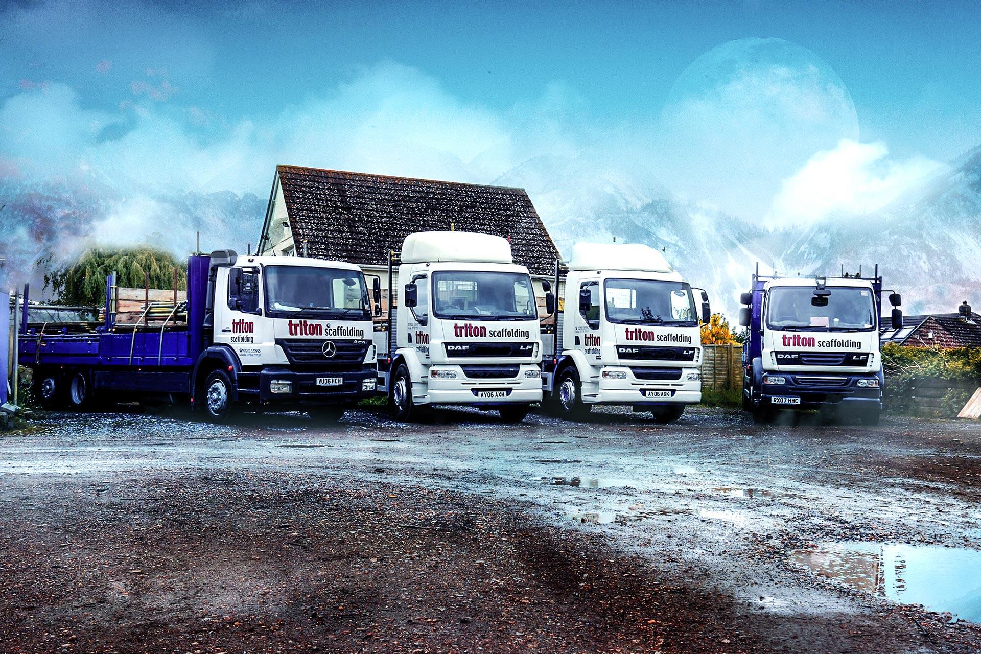 Triton Scaffolding Ltd - Lorries
